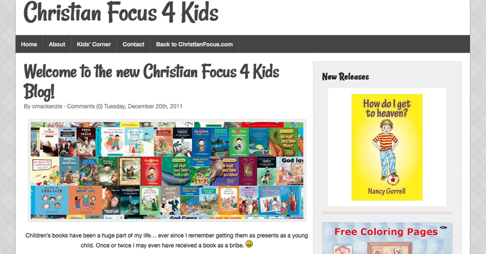 Announcing the New Christian Focus 4 Kids Blog
