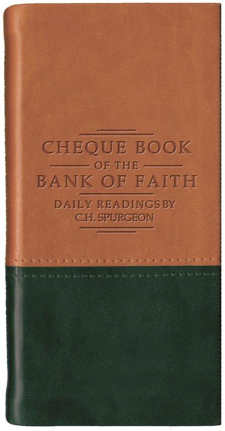 Chequebook of the Bank of Faith - Tan/Green