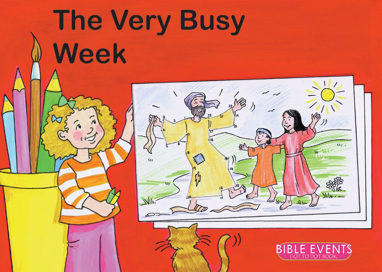 The Very Busy Week, Bible Events Dot to Dot Book