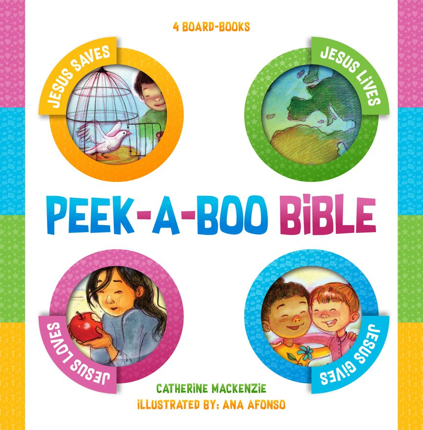 Peek–a–boo Bible, 4 Board–Books