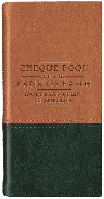 Chequebook of the Bank of Faith – Tan/Green