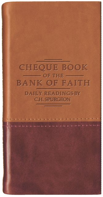 Chequebook of the Bank of Faith – Tan/Burgundy