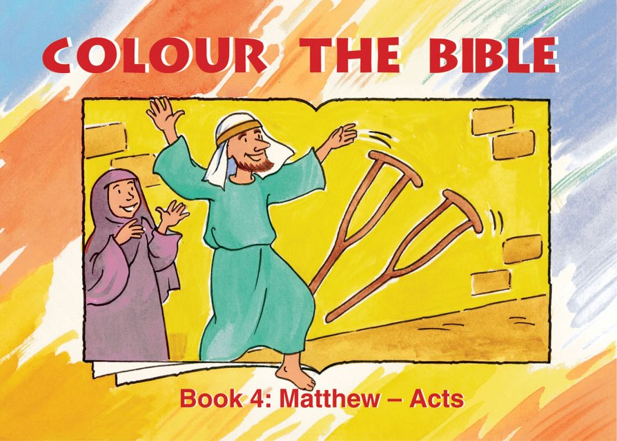 Colour the Bible Book 4Matthew - Mark